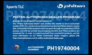 Phiten Authorized Dealer Certificate